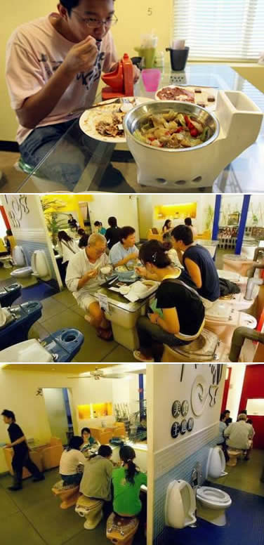 You can have your toilet and eat there, too - literally!