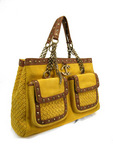 Just Cavalli™ large mustard yellow handbag