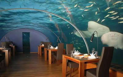 Eating under the sea - literally!